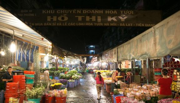 Chợ hoa Hồ Thị Kỷ